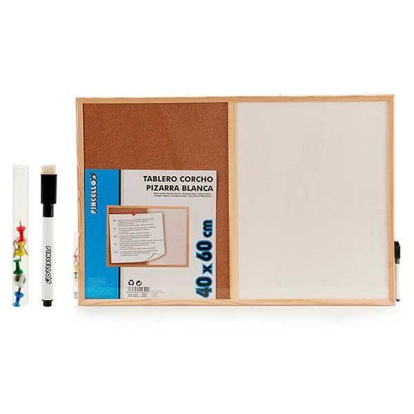Board Cork White Board (1 x 40 x 62 cm)