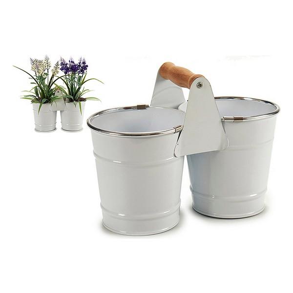 Vaso bianco, argentato