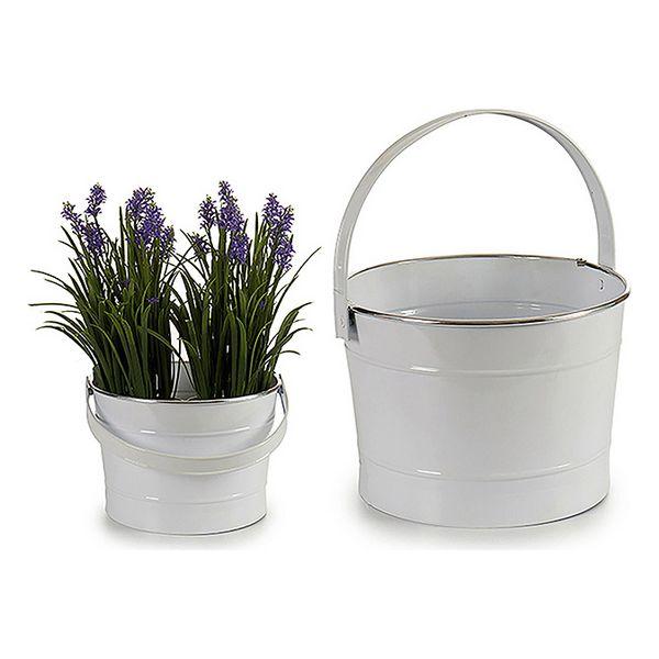 Bucket White Metal (25 x 17 x 27 cm)