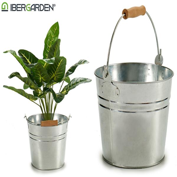 Bucket Small Silver Zinc (22 x 17,5 x 22,5 cm)