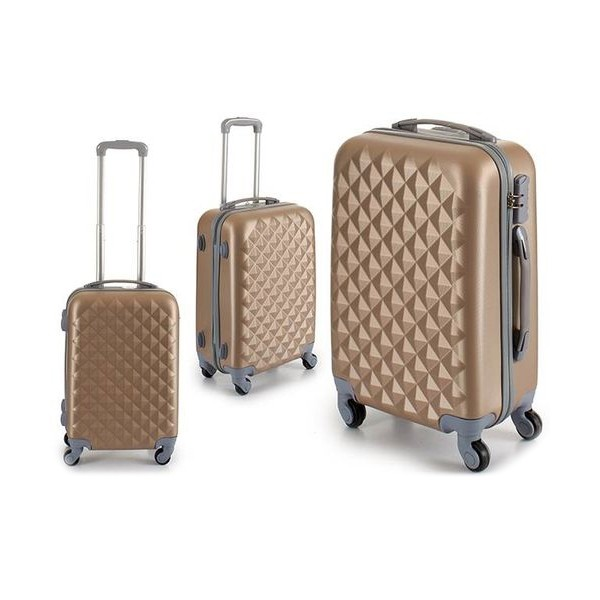 Cabin suitcase Beige ABS (24 x 58 x 38 cm)