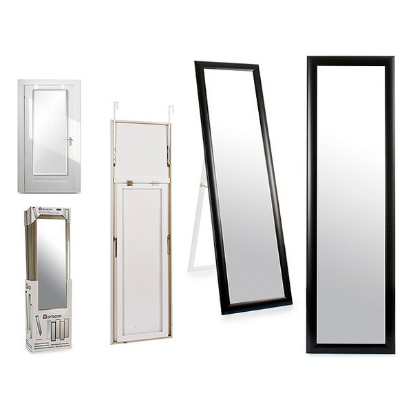 Free standing mirror Black Wood Crystal (30 x 120 cm)