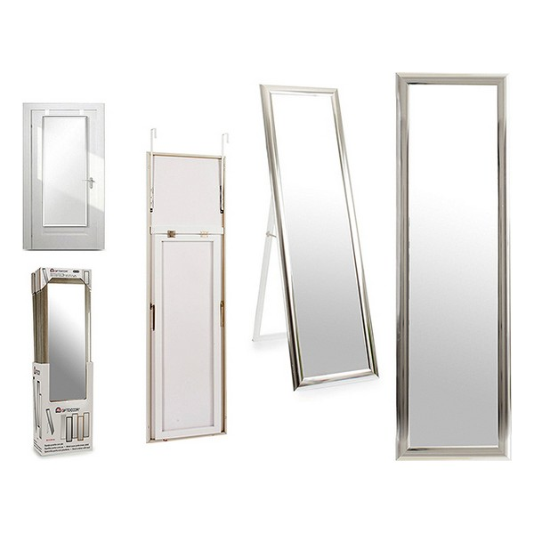 Free standing mirror Silver Wood Crystal (30 x 120 cm)
