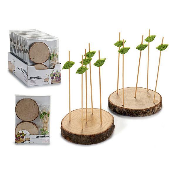 Appetizer Set Wood (2 x 20 x 15 cm) (2 pcs)