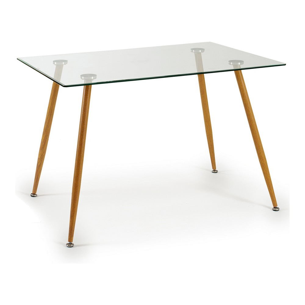 Centre Table Clea Metal Tempered glass