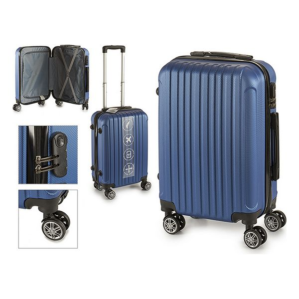 Cabin suitcase Blue (22 x 57 x 37,5 cm)