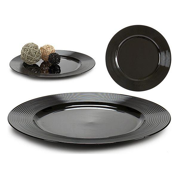 Centerpiece Black Shine (33 x 2 x 33 cm)