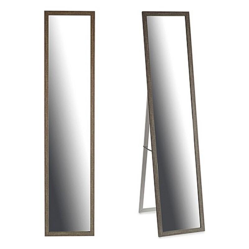 Free standing mirror Grey Wood Crystal (4 x 123 x 32,5 cm)