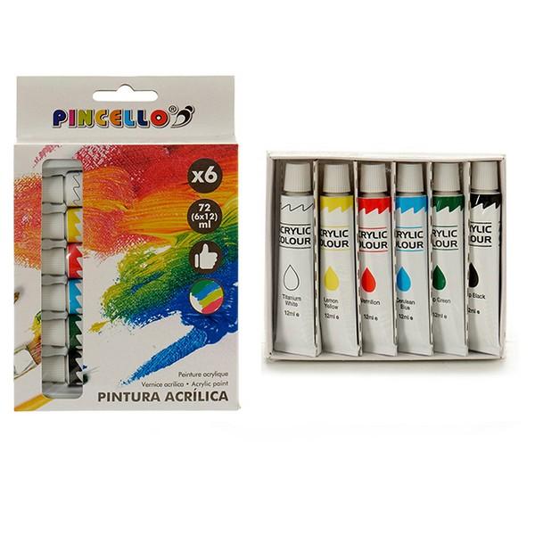 Acrylic paint (6 Pieces)