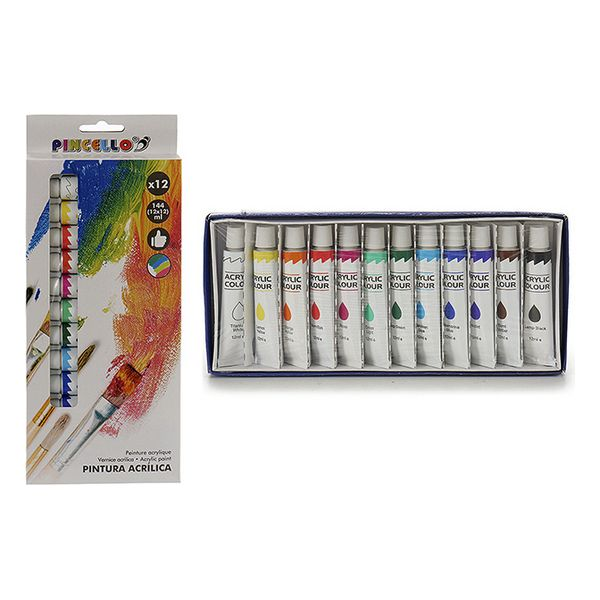 Set Acrylic paint 12 colours