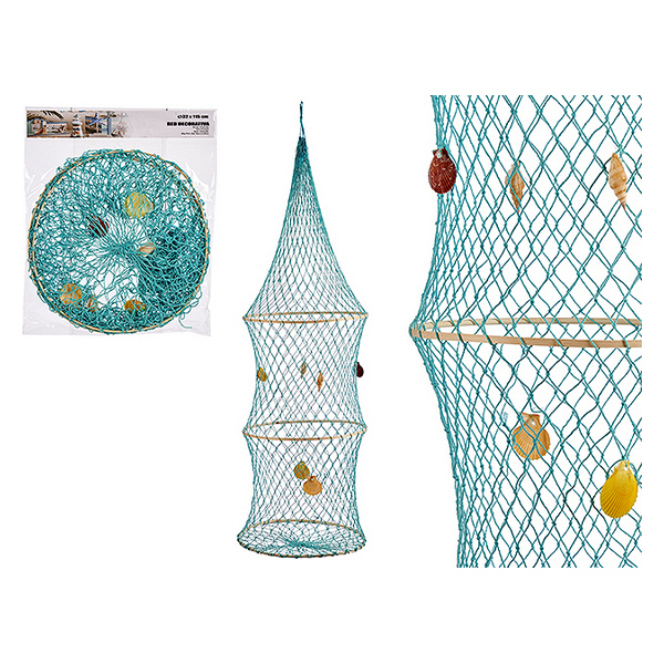 Basket Turquoise Red (34 x 115 x 34 cm)