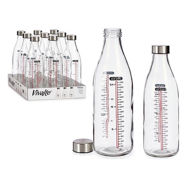 Bottle Mesure Crystal Steel 1000 ml