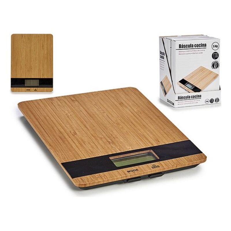 kitchen scale (17 x 2 x 23 cm) Digital Bamboo