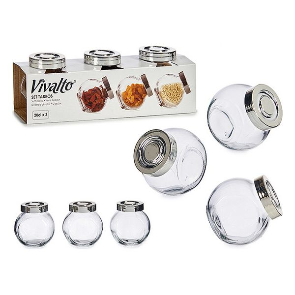 3 Tubs Crystal With lid (200 ml)