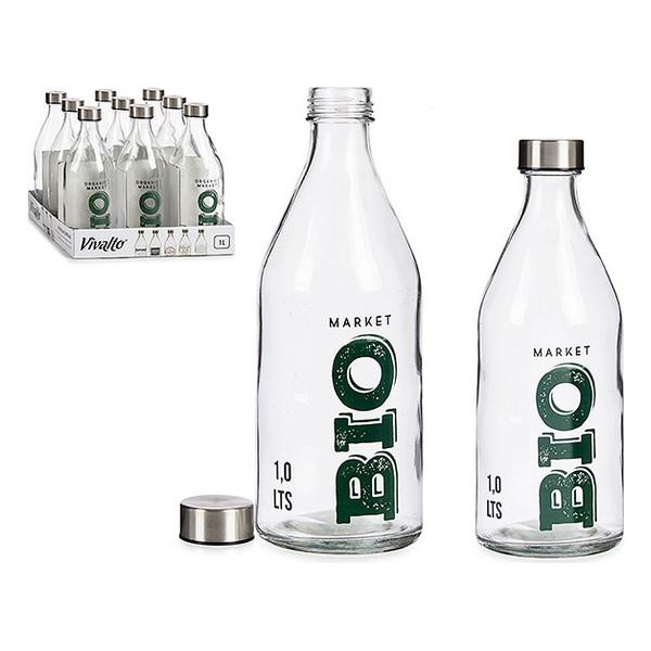 Bottle Bio Glass Steel 1000 ml