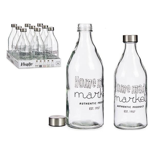Bottle Market Glass Steel 1000 ml