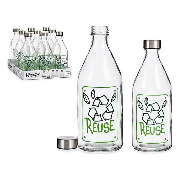 Bottle Reuse Glass Steel 1000 ml