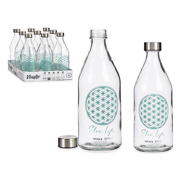 Bottle Slow Life Glass Steel 1000 ml