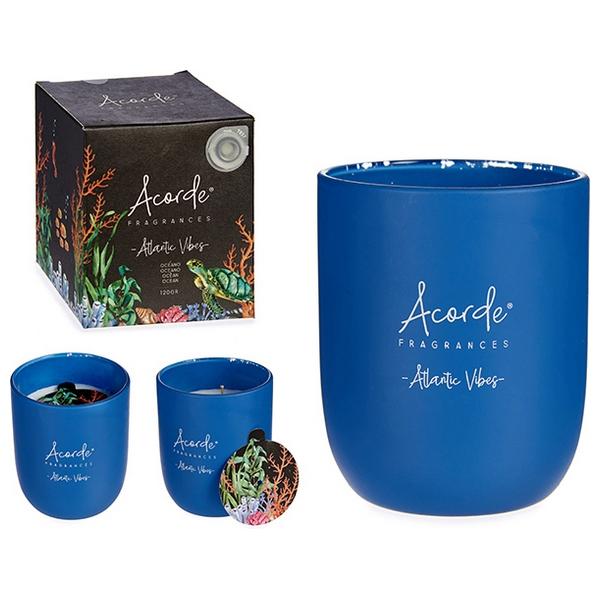 Candle Atlantic Vibes Glass Blue (7 x 8 x 7 cm)