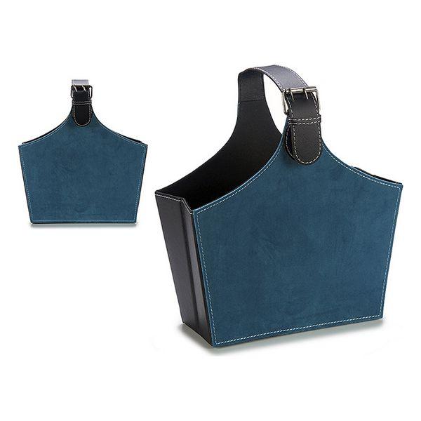 Magazine rack Velvet Blue (15 x 36 x 34 cm)
