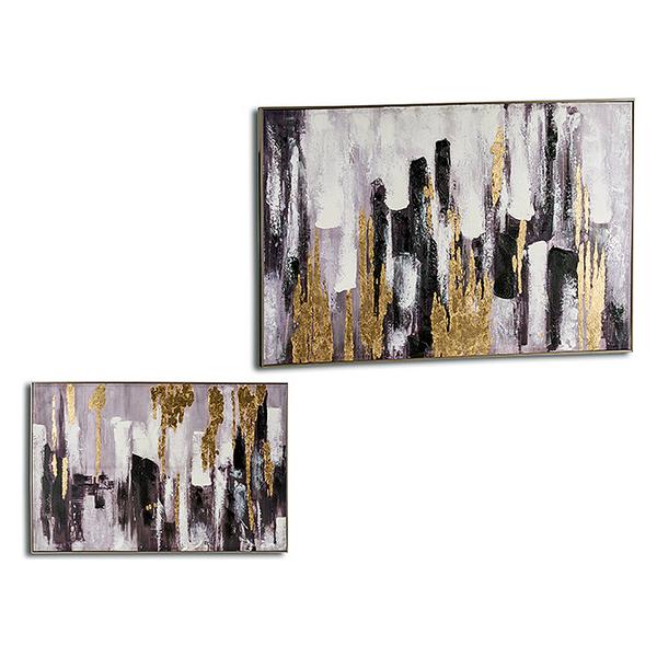 Canvas Canvas (122 x 4,5 x 82 cm) Golden Silver