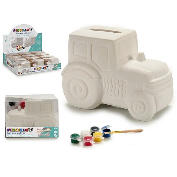 Money box (9,2 x 9 x 13 cm) Tractor