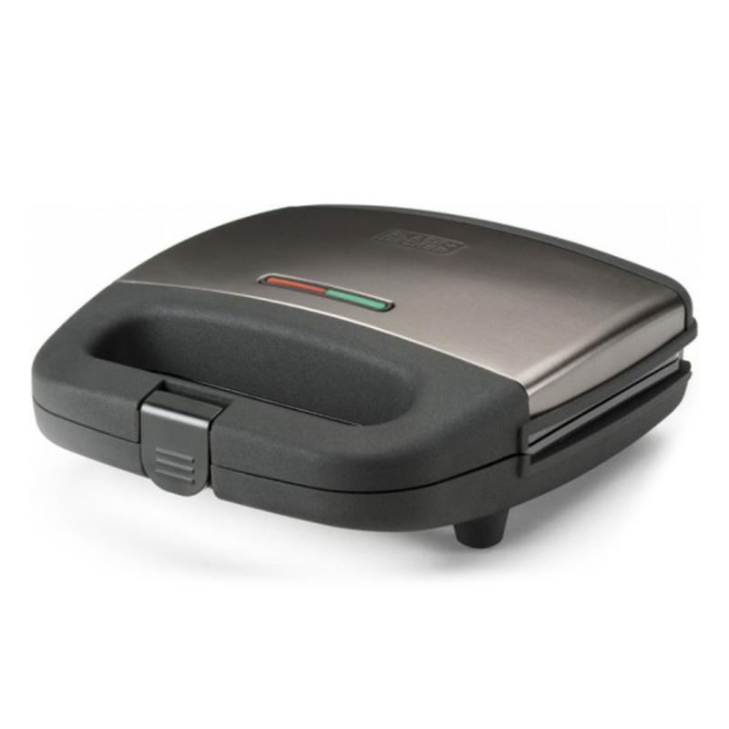 Toster za Sendvič z Nelepljivo Površino Black & Decker BXSA750E 750W Nerjaveče jeklo