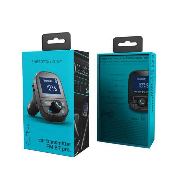 REPRODUCTOR MP3 Y TRANSMISOR FM BLUETOOTH PARA COCHE ENERGY SISTEM 447268 USB NEGRO
