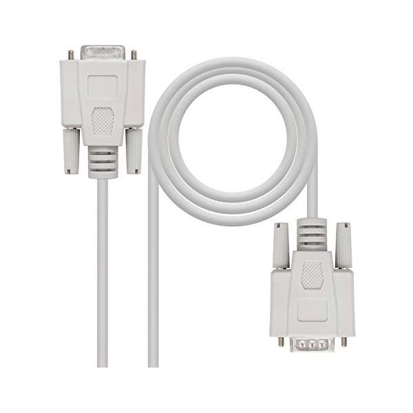 Cable NANOCABLE 10.14.0202 PUERTO SERIE DB9 RS232 1,8 M