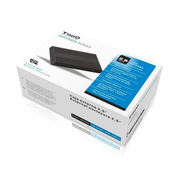 """External Box TooQ TQE-2524B HD 2.5"""" SATA III-USB 3.0 FAT32 / NTFS / eXT2 / HFS Aluminium Black Computers Electronics"""