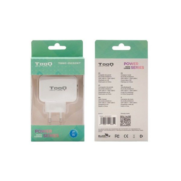 USB  Wall Charger TooQ TQWC-2SC02WT Computers Electronics