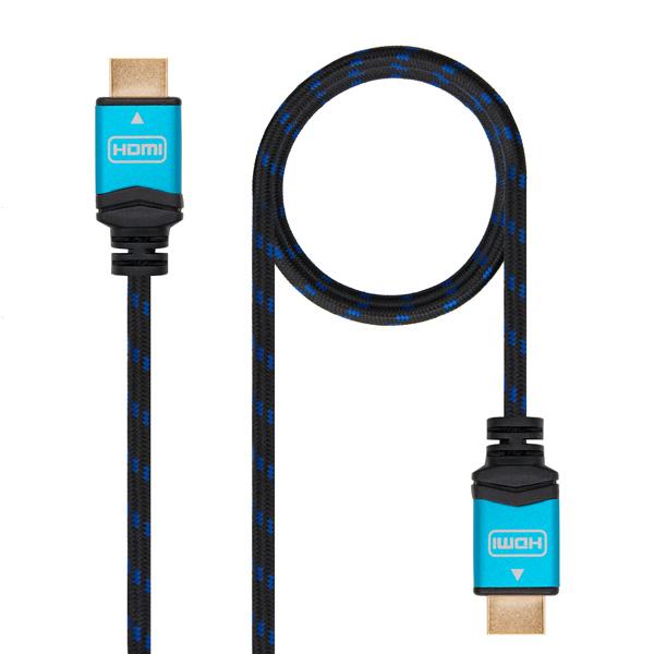 Cable HDMI TooQ 10.15.37 V2.0 Negro Azul