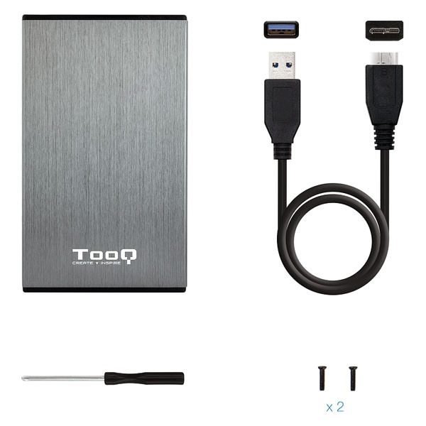 "Housing for Hard Disk TooQ TQE-2527G 2,5"" SATA USB 3.0 Black Computers Electronics"