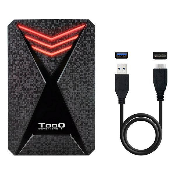 "Housing for Hard Disk TooQ TQE-2550RGB 2,5"" USB 3.0 RGB Black Computers Electronics"
