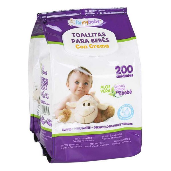 Baby Wipes with Cream (200 uds)
