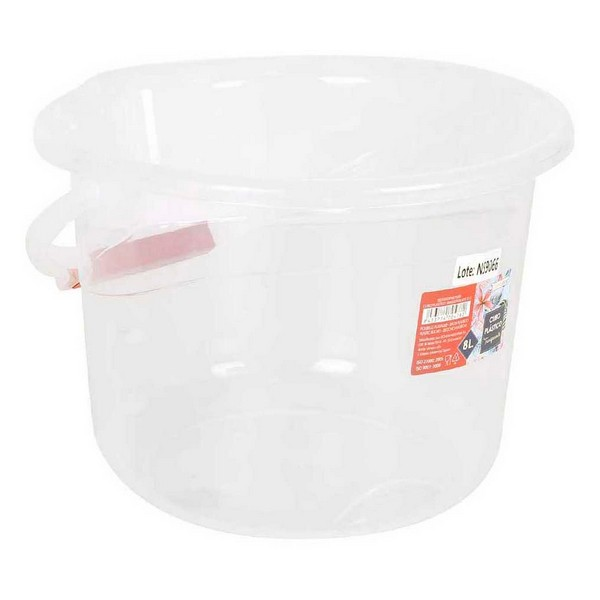 Bucket with Handle Confortime 8 L Plastic Transparent