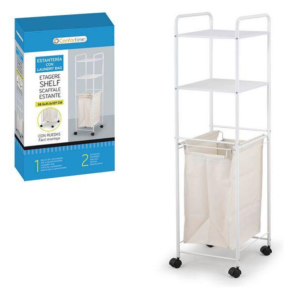Bathroom Shelves Confortime Laundry Bag Metal (38,5 x 31,5 x 127 cm)