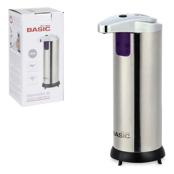 Automatic Soap Dispenser with Sensor Basic Home Stainless steel (220 ml) (12 x 7 x 18,5 cm)