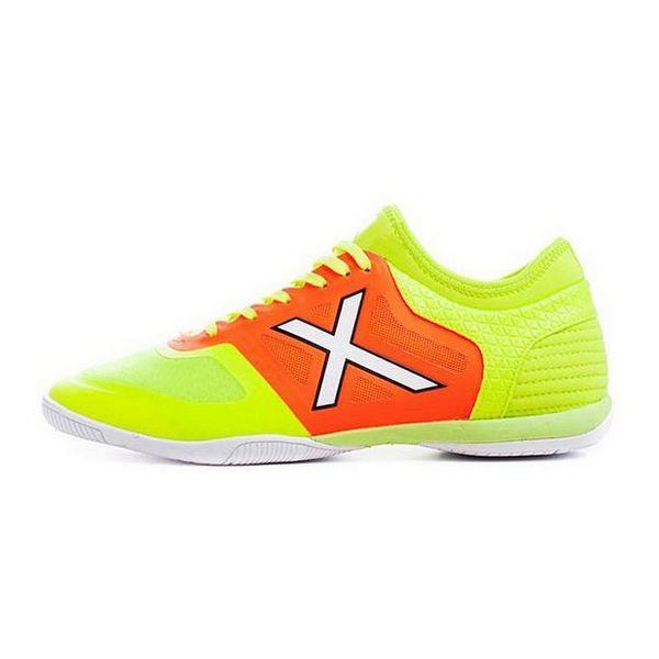 Adult's Indoor Football Shoes Munich Tiga Indoor 23 Green Orange