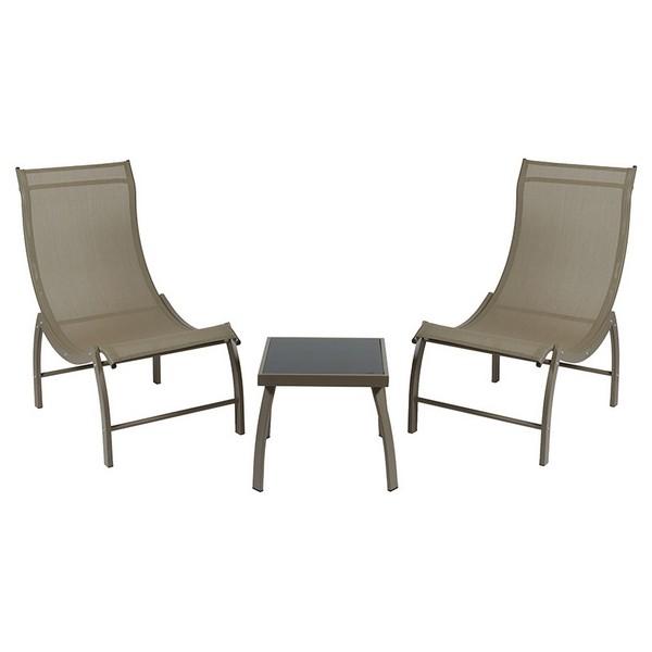 Garden furniture (3 pcs) Aluminium