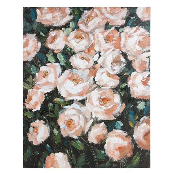 Oil Painting Roses Pine (80 X 4 x 100 cm)