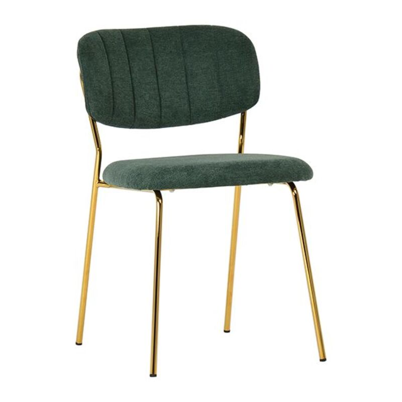 Dining Chair Polyester Green (49 x 56 x 79 cm)