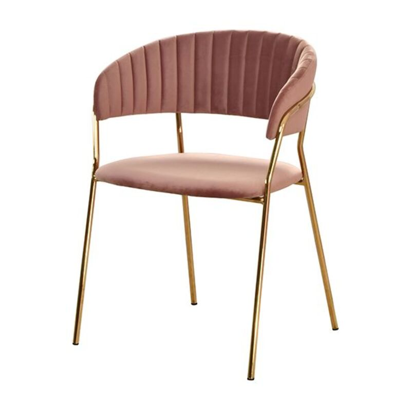 Dining Chair Polyester Pink (49 x 56 x 79 cm)