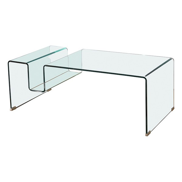 Centre Table Curved glass (120 x 60 x 43 cm)