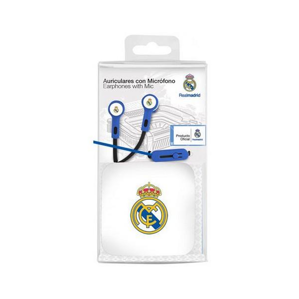 Auriculares de Botón Real Madrid C.F. Azul