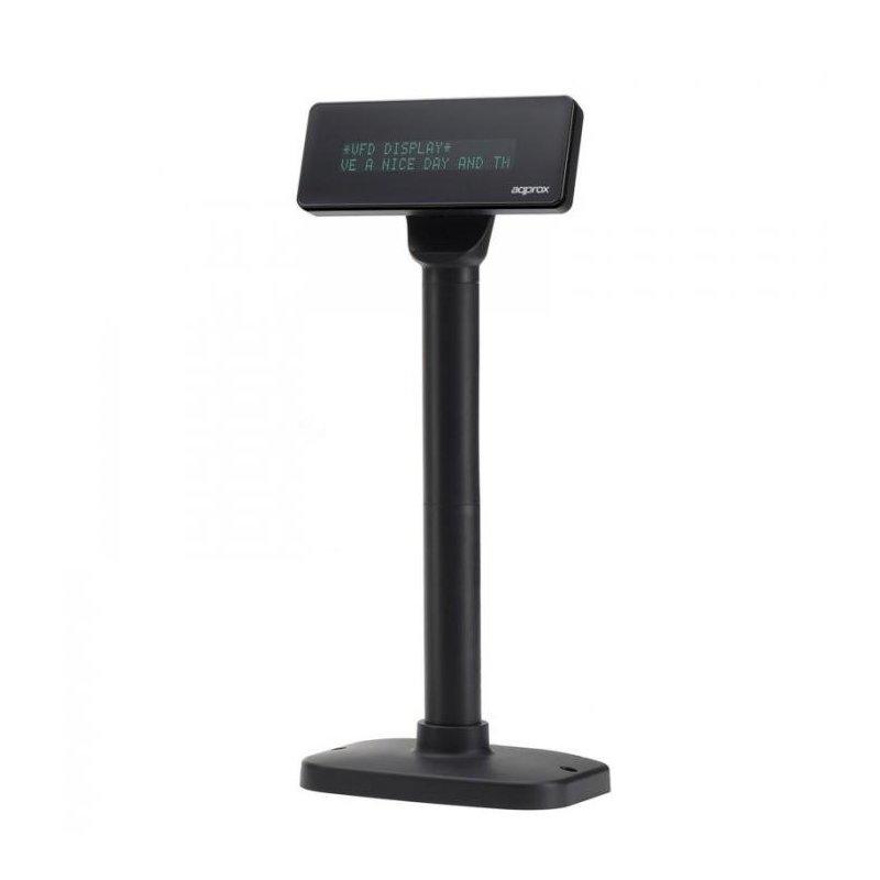 "Visor para TPV approx! appVFD01 7"" USB Negro"