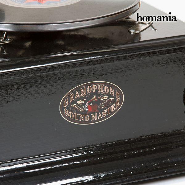 Gramófono Cuadrado Negro Plata - Colección Old Style by Homania (5)