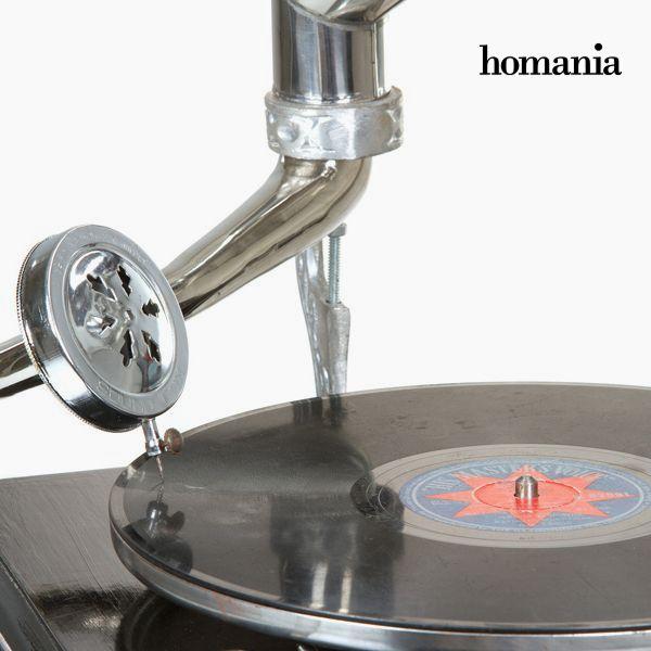 Gramófono Cuadrado Negro Plata - Colección Old Style by Homania (4)