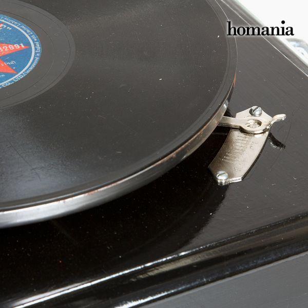 Gramófono Cuadrado Negro Plata - Colección Old Style by Homania (2)