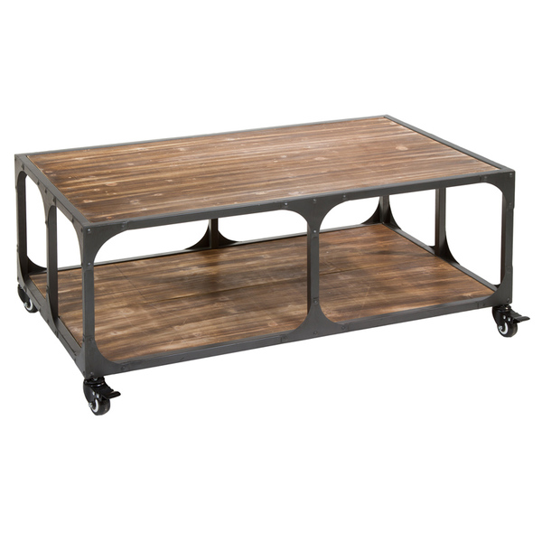 Centre Table industrial (99,5 x 60,5 x 39,5 cm) by Craftenwood